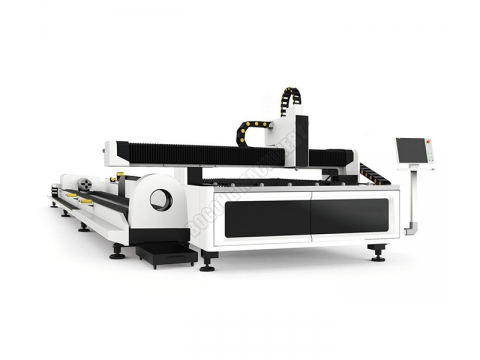 Tube and plate fiber laser cutting system
