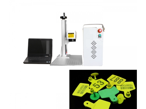 Affordable China Animal Ear Tag Laser Marking Machine Printing on Plastic Parts for Cattle Cow Sheep